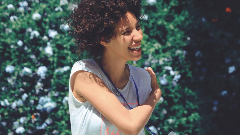 A kirklees resident smiling outdoors.